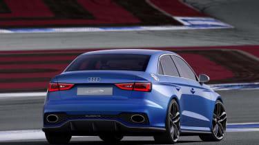 Audi A3 Clubsport quattro blue saloon