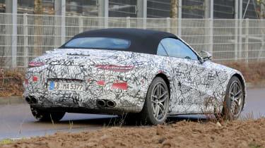 Mercedes SL spy 2021 - rear quarter 2