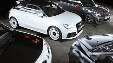 Audi A1 Quattro vs Mini JCW GP, Ford Focus RS500 and Renault Megane R26.R: Verdict