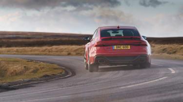 Audi RS7 red - corner hard
