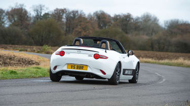 Mazda MX-5 BBR 1.5-litre turbo upgrade –  rear quarter