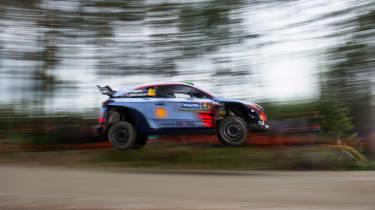 WRC Rally Finland - i20 jump