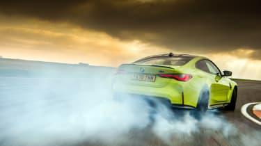 BMW M4 Competition Sao Paulo on track – rear smoke