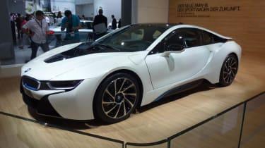BMW i8 hybrid supercar white