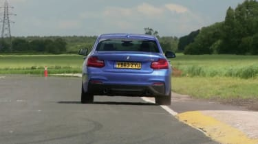 BMW M235i blue rear