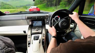Lexus LFA - interior moving