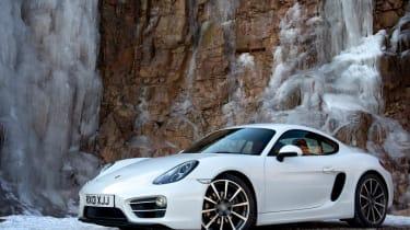 2013 Porsche Cayman white front