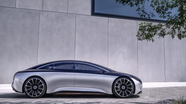 Mercedes Vision EQS concept side