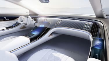 Mercedes Vision EQS concept interior