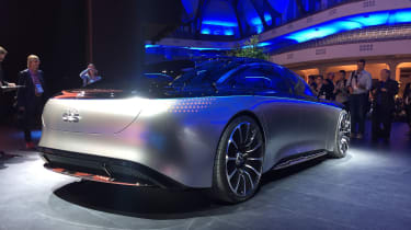 Mercedes Vision EQS concept rear