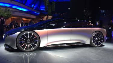Mercedes Vision EQS concept front