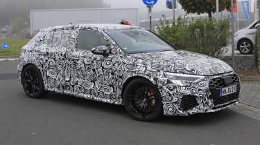 Audi RS3 mule 2020 SB – front quarter