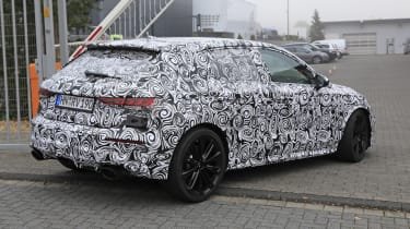 Audi RS3 mule 2020 SB – rear quarter