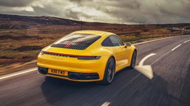 Porsche 911 Carrera 4S road rear