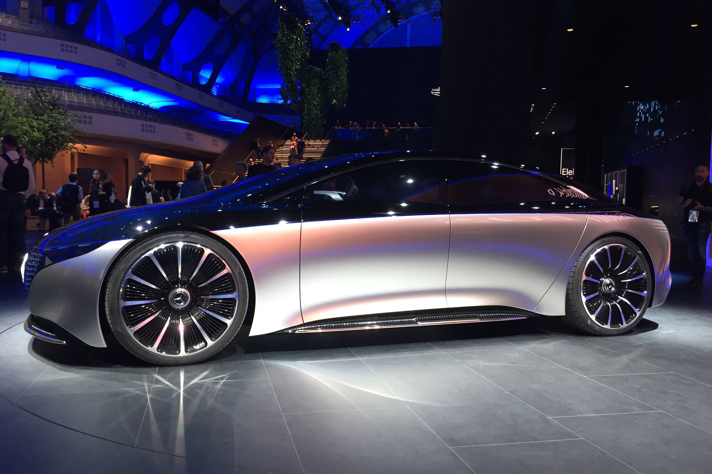 Mercedes Vision Eqs Luxury Electric Car Concept Unveiled